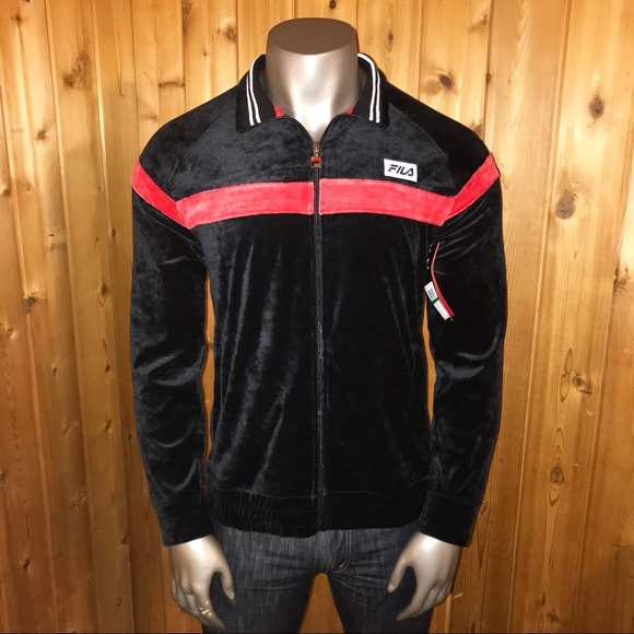 NWT! FILA Old School Velour Men's Large Jacket NWT